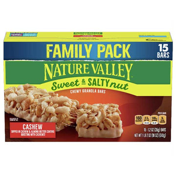 Nature Valley Granola Bars, Sweet & Salty Nut, Cashew, 15 Ct