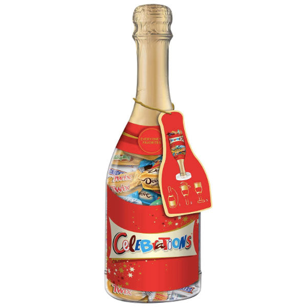 Celebrations Candy Bars Mix Champagne Bottle, 10.9 oz - Water Butlers