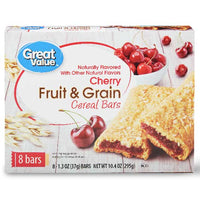 Great Value Fruit & Grain Bars, Cherry, 8 Count - Water Butlers