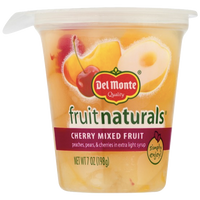 Del Monte Fruit Naturals, Cherry Mixed Fruit, 6.5 oz Cup - Water Butlers