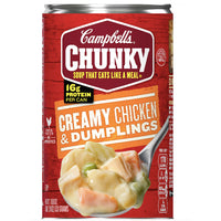 Campbell's Chunky Soup, Creamy Chicken & Dumplings, 18.8 oz - Water Butlers