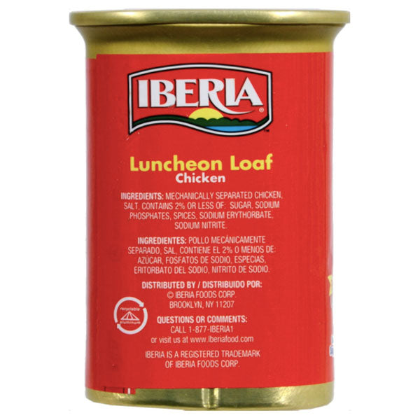 Iberia Chicken Luncheon Loaf, 12 oz - Water Butlers