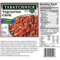 Tabatchnick Organic Vegetarian Chili Soup, 15 oz - Water Butlers