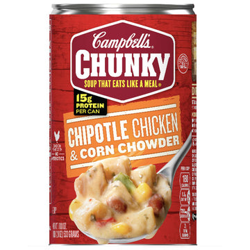 Campbell's Chunky Soup, Chipotle Chicken & Corn Chowder, 18.8 oz
