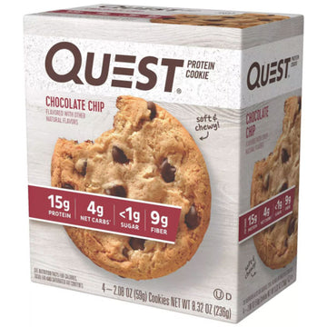 Quest Protein Cookie, Chocolate Chip, 4 Ct