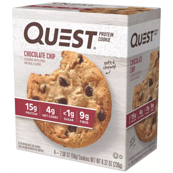 Quest Protein Cookie, Chocolate Chip, 4 Ct - Water Butlers