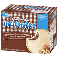 Smucker's Chocolate Hazelnut Uncrustables Sandwich, 10 Count - Water Butlers