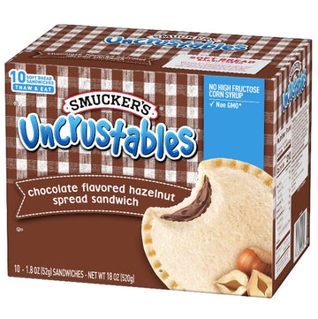 Smucker's Chocolate Hazelnut Uncrustables Sandwich, 10 Count