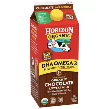 Horizon Organic 1% Chocolate Milk with DHA Omega-3. Half Gallon