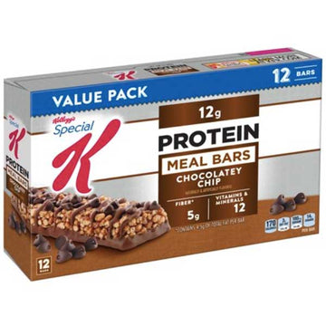 Kellogg's Special K Protein Meal Bar, Chocolatey Chip, Value Pack, 12 Ct