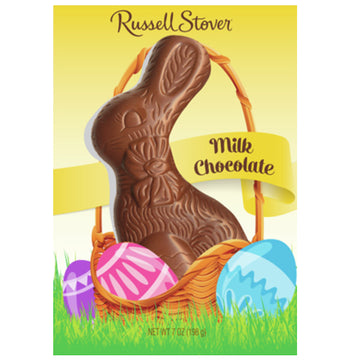 Russell Stover Milk Chocolate Flat Back Bunny, 7 oz.
