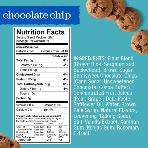 Enjoy Life Gluten Free, Soft Baked Cookies Chocolate Chip, 6oz - Water Butlers
