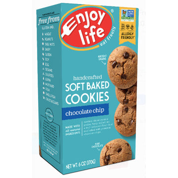Enjoy Life Gluten Free, Soft Baked Cookies Chocolate Chip, 6oz