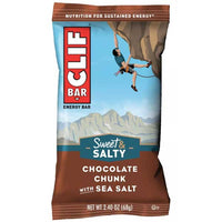 CLIF Bar Sweet & Salty Chocolate Chunk with Sea Salt Energy Bars, 6 Ct - Water Butlers