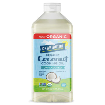 Carrington Farms Unflavored Coconut Cooking Oil, 32 fl oz
