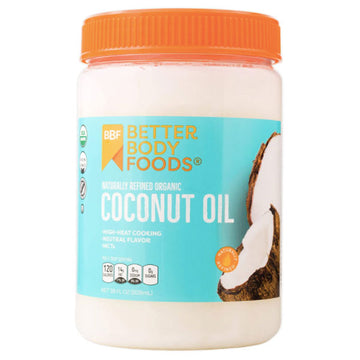 BetterBody Foods Refined Organic Coconut Oil, 28 fl oz