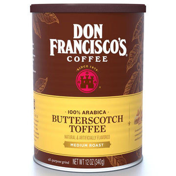 Don Francisco's 100% Arabica Butterscotch Toffee Ground Coffee, 12 oz