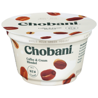 Chobani Greek Yogurt, Coffee & Cream, 5.3oz - Water Butlers