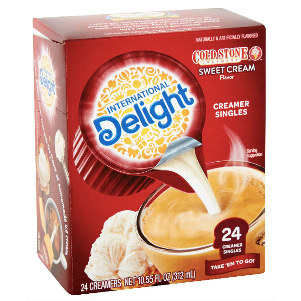 International Delight Cold Stone Sweet Cream Coffee Creamers, 24 Count - Water Butlers