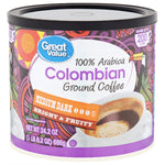 Great Value Colombian Ground Coffee, Medium Dark, 24.2 oz - Water Butlers