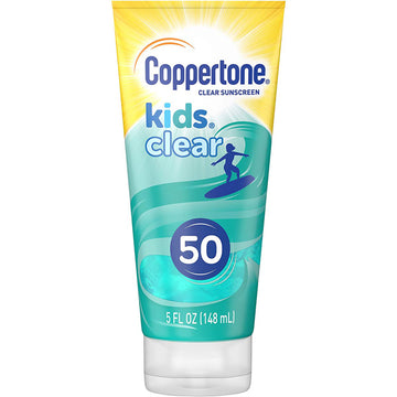 Coppertone Kids Clear Sunscreen Lotion Cool Blue Tint SPF 50, 5 Fl oz