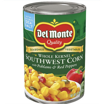 Del Monte Southwest Corn Pablano & Red Peppers, 15.25 Oz