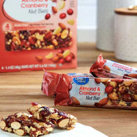 Great Value Almond & Cranberry Nut Bars, 4 Count - Water Butlers