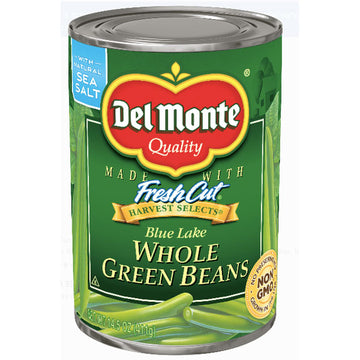 Del Monte Whole Green Beans, 14.5 Oz