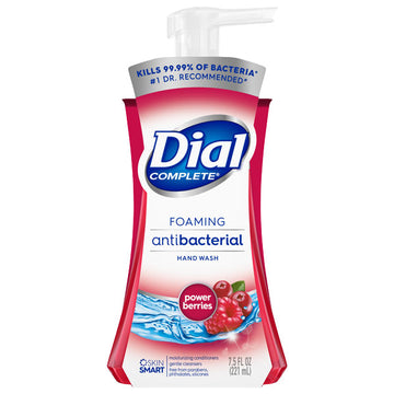 Dial Complete Antibacterial Foaming Hand Wash, Power Berries, 7.5 oz