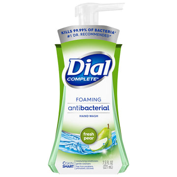 Dial Complete Antibacterial Foaming Hand Wash, Fresh Pear, 7.5 oz