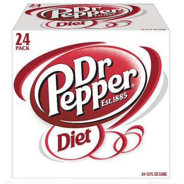 Diet Dr Pepper Soda, 24 Count