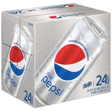 Diet Pepsi 12 fl oz, 24 Pack