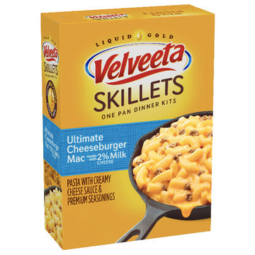 Velveeta Skillets Ultimate Cheeseburger Mac with 2% Milk Cheese Dinner Kit, 11.5 oz