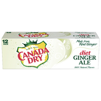 Canada Dry Diet Ginger Ale, 12 Count - Water Butlers