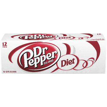 Diet Dr Pepper Soda, 12 Count
