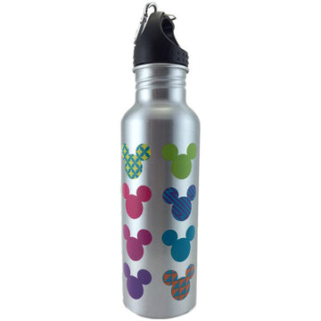 Disney Colorful Neon Mickey Mouse Aluminum Water Bottle