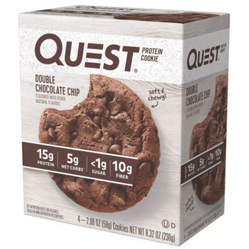 Quest Protein Cookie, Double Chocolate Chip, 4 Ct