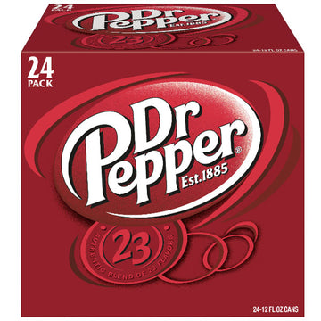 Dr Pepper Soda, 24 Count