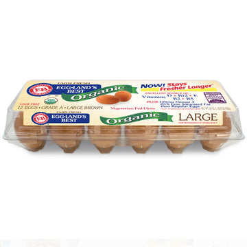 Eggland's Best Organic Large Brown Grade A Eggs, 12 Ct