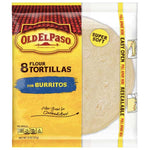 Old El Paso Flour Tortilla, For Burritos, 8 Count - Water Butlers