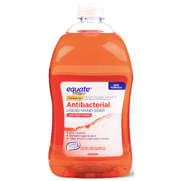 Equate Antibacterial Liquid Hand Soap, Light Moisturizing, 56 fl oz