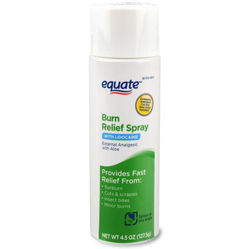 Equate Burn Relief Spray, 4.5 oz
