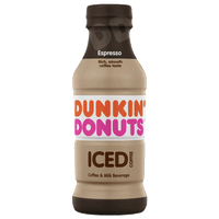 Dunkin' Donuts Iced Coffee, Espresso 13.7 fl - Water Butlers
