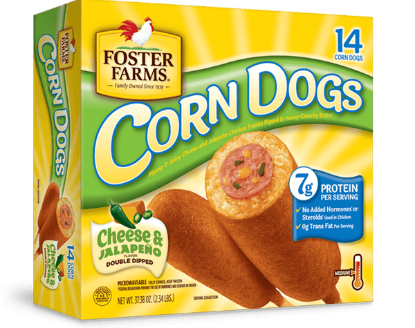 Foster Farms Cheese and Jalapeño Corn Dogs, 14 Ct - Water Butlers