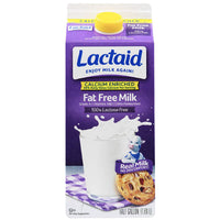 Lactaid Fat Free Milk, Calcium Enriched, Half Gallon - Water Butlers