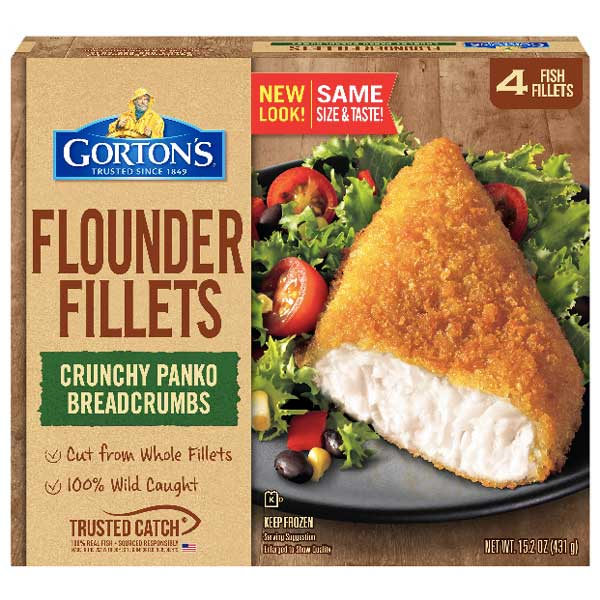Gorton's Crunchy Breaded Flounder Fish Fillets, 15.2 oz - Water Butlers