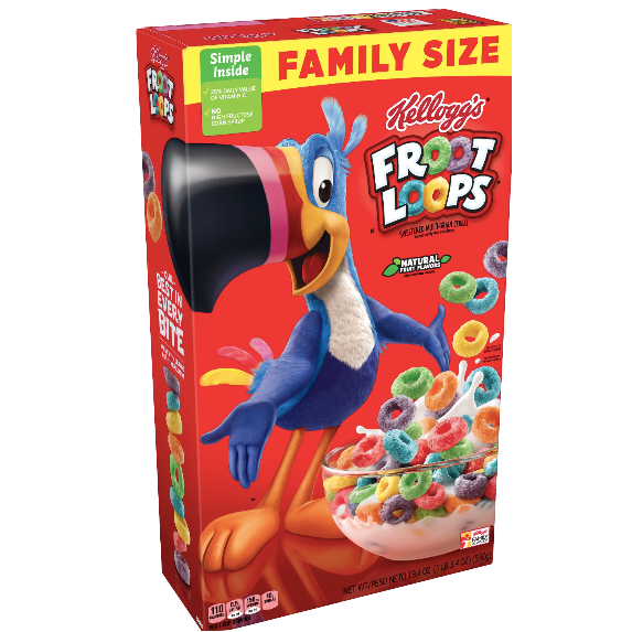 Kellogg's Froot Loops Family Size 19.4 oz - Water Butlers