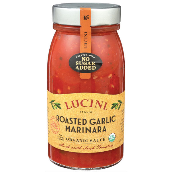 Lucini Italia Roasted Garlic Marinara Organic Sauce, 25.5 oz. - Water Butlers