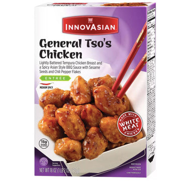 InnovAsian Frozen General Tso's Chicken, 18 oz