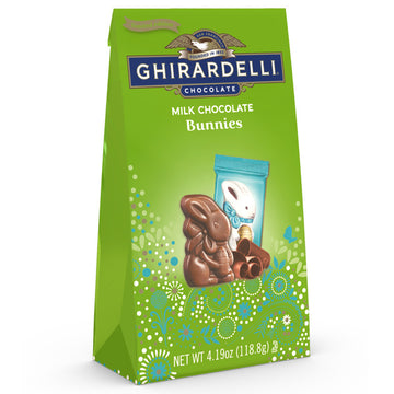 Ghirardelli Milk Chocolate Bunnies, Solid Milk Chocolate Bunnies, 4.19 oz.
